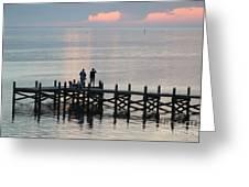 Navarre Beach Sunset Pier 35 Greeting Card