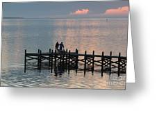 Navarre Beach Sunset Pier 37 Greeting Card