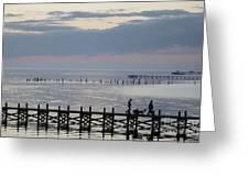 Navarre Beach Sunset Pier 8 Greeting Card