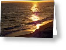 Navarre Sunset Surf Greeting Card