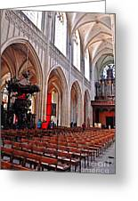 Nave Of The Church Of Our Lady Greeting Card