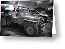 Navy Jeep Greeting Card