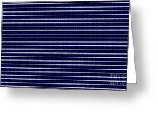 Navy Pinstripe 2 Greeting Card