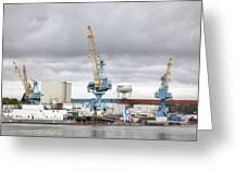 Navy Yard Cranes Greeting Card