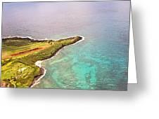 Nawiliwili Lighthouse - Aerial Greeting Card