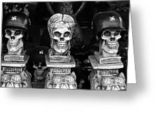 Nazi Helmets Skeletons Elephant Statuary Border Town Nogales Sonora Mexico 1968 Greeting Card