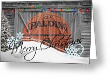 Nba Basketball Greeting Card by Joe Hamilton