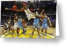 NBA Greeting Card by Georgi Dimitrov
