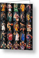 Nba Legends Greeting Card by Taylan Apukovska