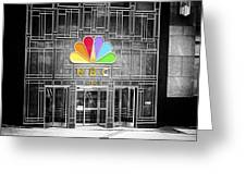 Nbc Facade Selective Coloring Greeting Card