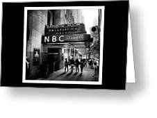Nbc Studios Greeting Card