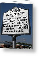 Nc-a30 Isaac Gregory Greeting Card
