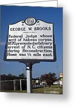 Nc-a54 George W. Brooks Greeting Card