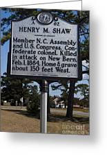 Nc-a62 Henry M. Shaw Greeting Card