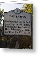 Nc-bbb2 Fort Bartow Greeting Card