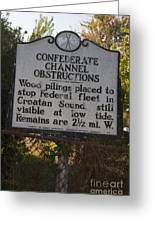 Nc-bbb3 Confederate Channel Obstructions Greeting Card