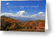 Nc Mountains With Scripture Greeting Card