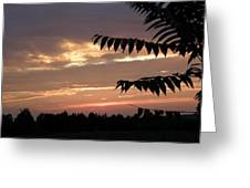 Nc Sunset Greeting Card