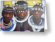 Ndebele Initiates Greeting Card