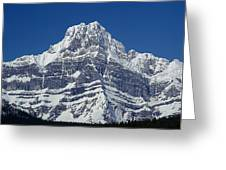 1m3644-ne Face Of Howse Peak Greeting Card