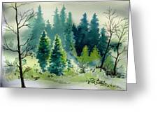 Near Camp Greeting Card