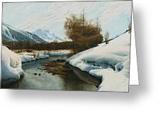 Near La Punt St Morritz In The Engadine Valley Greeting Card