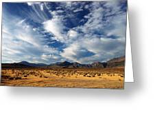 Near The Intersection Of God And The Eastern Sierras Greeting Card