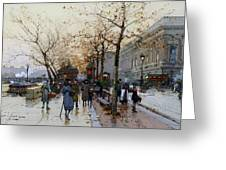Near The Louvre Paris Greeting Card