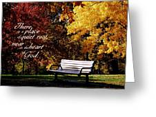 Near To The Heart Of God Greeting Card