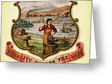 Nebraska Coat Of Arms -1876 Greeting Card