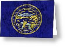 Nebraska Flag Greeting Card by World Art Prints And Designs