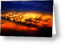 Nebraska Mammatus Sunset Greeting Card