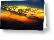 Nebraska Mammatus Sunset Greeting Card