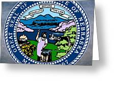 Nebraska State Seal Greeting Card