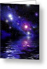 Nebula Reflection Greeting Card