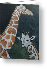Neck And Neck Greeting Card