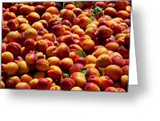 Nectarines For Sale At Weekly Market Greeting Card