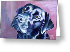 Need Help With That? Black Lab Greeting Card