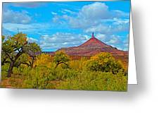 Needle-topped Butte From Highway 211 Going Into Needles District Of Canyonlands National Park-utah  Greeting Card
