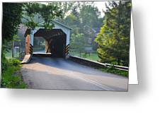 Neff's Mill Covered Bridge Lancaster County Greeting Card