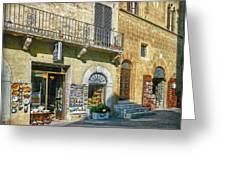 Negozi Toscani Greeting Card