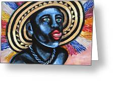 Negrito In Carnival 2 Greeting Card