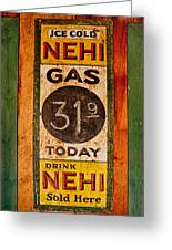 Nehi And Gas Sold Here Greeting Card