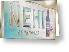 Nehi Ice Cold Beverages Sign Greeting Card
