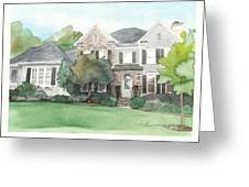 Neighbors House Watercolor Portrait Greeting Card