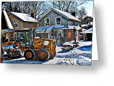Neighbourhood Snowplough 2 Greeting Card