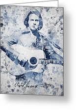 Neil Diamond Portrait Greeting Card by Aged Pixel