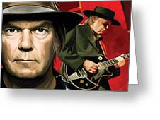 Neil Young Artwork Greeting Card