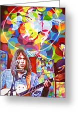 Neil Young-crazy Horse Greeting Card