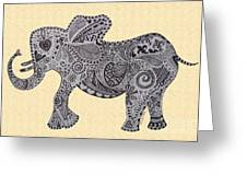 Nelly The Elephant Sprinkles Greeting Card